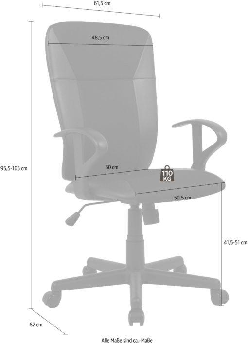 Wygodny fotel biurowy, obrotowy, sztuczna skóra i siatka
