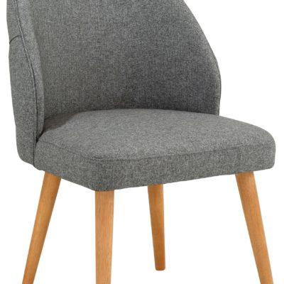 Designerski, szary fotel, rama i nogi z brzozy
