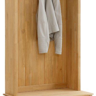 Sosnowa garderoba ze skrzynią na buty