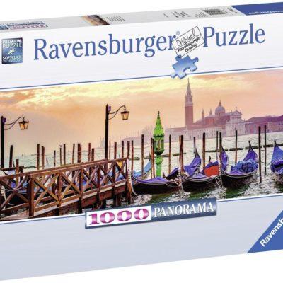 Puzzle panoramiczne 1000 elementów Gondole w Wenecji