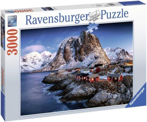 Ravensburger puzzle 3000 elementów Hamnoy, Lofoty