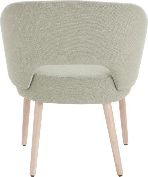 Krzesło o skandynawskim designie, miętowe