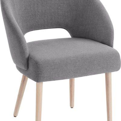 Krzesło o skandynawskim designie - 1 sztuka, szare