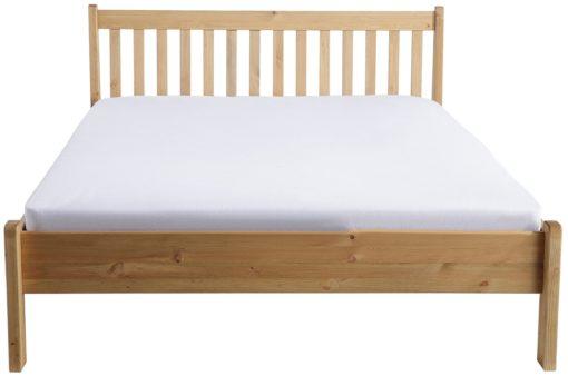 Proste, sosnowe łóżko 140x200 cm, bejcowane