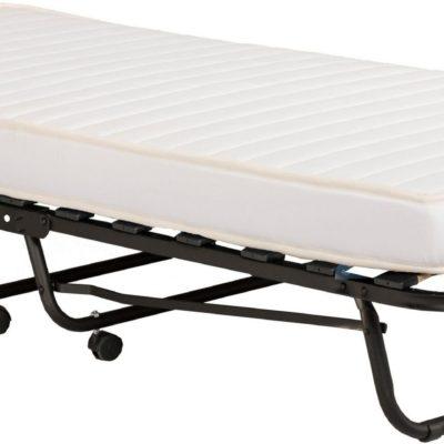 Składane łóżko z materacem i pokrowcem 77x195 cm