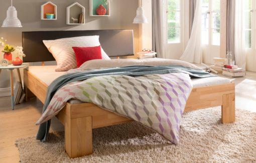 Tapicerowany sztuczną skórą zagłówek do łóżka 90 cm