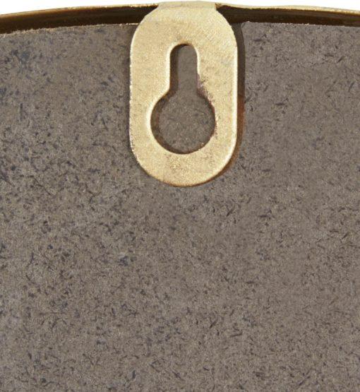 Okrągłe złote lustro z półką