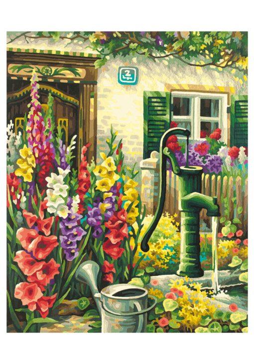 Malowanka, malowanie według cyfr Wiejski Ogród