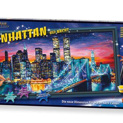Malowanka, malowanie według cyfr Manhattan Nocą