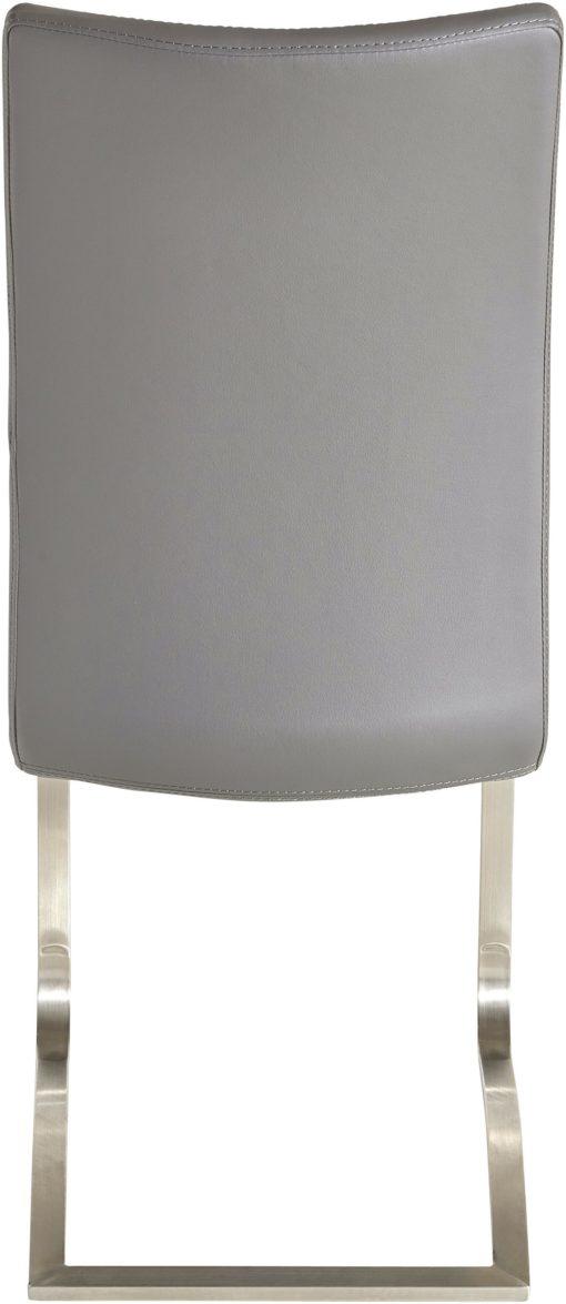 Szare krzesła na płozach, sztuczna skóra - 6 sztuk