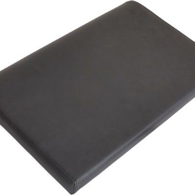 Poduszka, oparcie na plecy ze sztucznej skóry, czarne