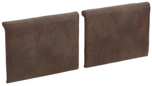 Miękkie poduszki na ławkę bądź krzesła - 2 sztuki, brązowe