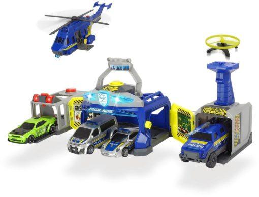 Posterunek policji Dickie Toys, efekty świetlne i dźwiękowe
