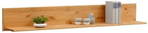 Prosta sosnowa półka ścienna 140 cm