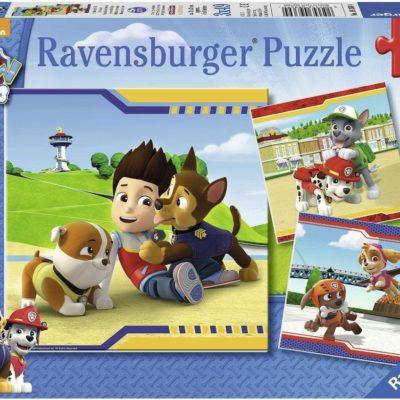 Puzzle Psi Patrol, 3x49 elementów, Ravensburger