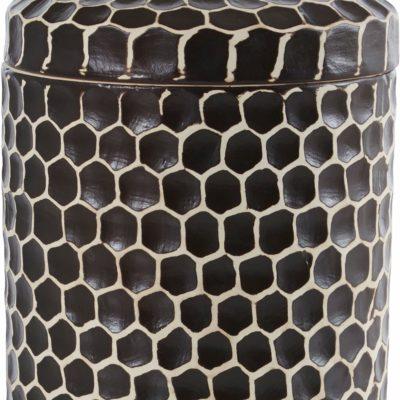 Pudełko ceramiczne z pokrywką czarne