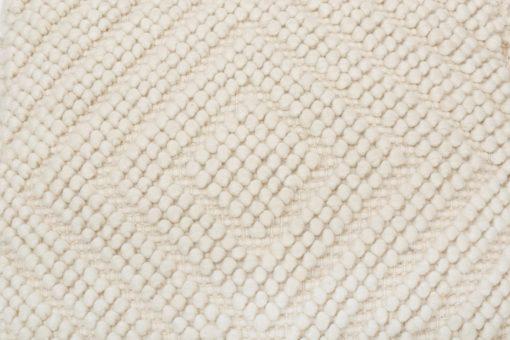 Ręcznie tkany, beżowy puff z domieszką wełny