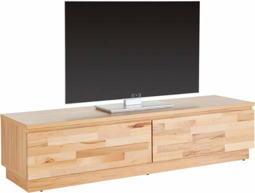 Nowoczesna szafka RTV z frontem z drewna bukowego