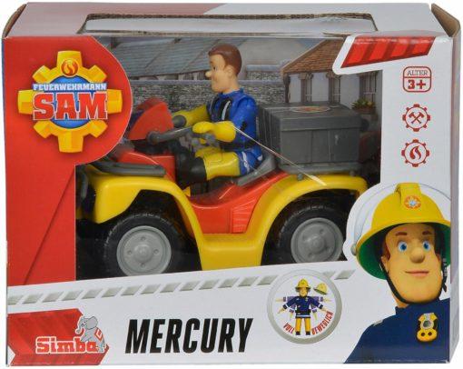 Zestaw do zabawy Strażak Sam, Quad Mercury z figurką