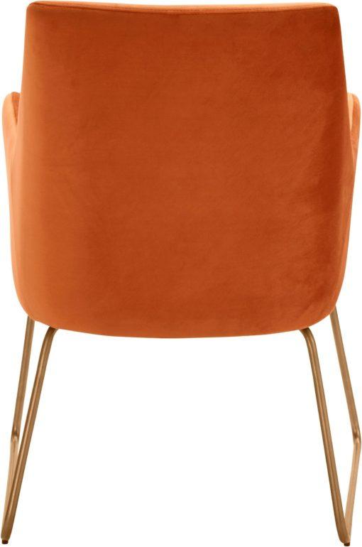 Fotel na metalowych nogach, w stylu retro, terra