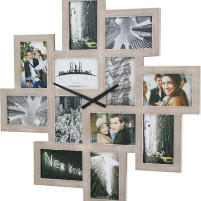 Zegar ścienny z ramką na zdjęcia