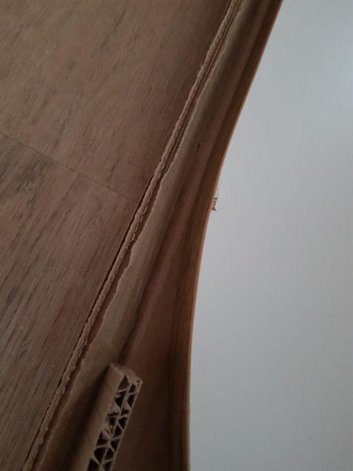 Stolik kawowy o ciekawym kształcie, w stylu industrialnym,biały