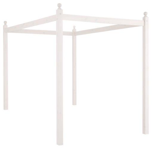 Wspaniała dekoracja łóżka, biały baldachim 140×200 cm