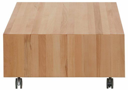 Nowoczesny stolik kawowy na kółkach, kolor buk