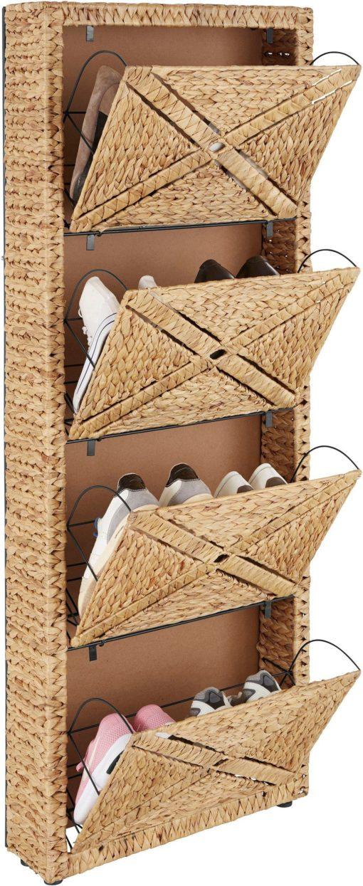 Zachwycająca szafka na buty z plecionego hiacyntu wodnego