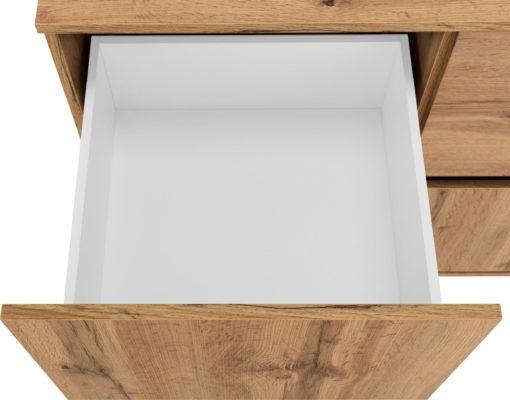 Duża komoda w nowoczesnym stylu, 6 szuflad, kolor dąb