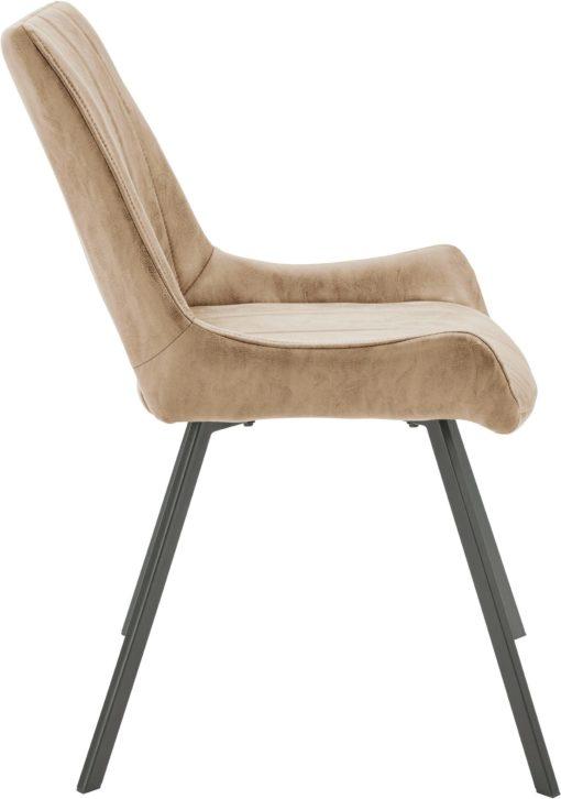 Nowoczesne krzesła cappuccino - 2 sztuki