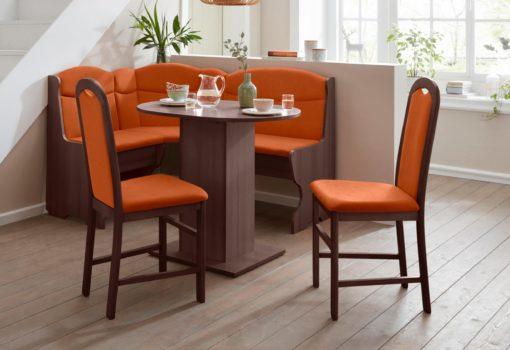 Ponadczasowe, bukowe krzesła w kolorze terra - 2 sztuki