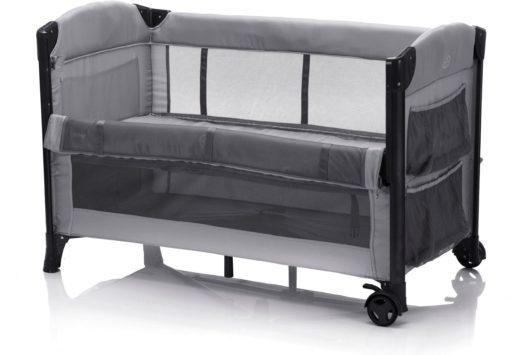 Łóżeczko turystyczne , składane z torbą, aluminuim, szare