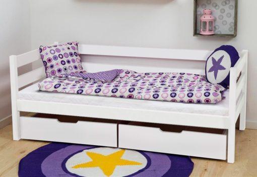 Świetne łóżko dziecięce, w kolorze białym