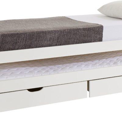 Rozkładane łóżko z dwiema szufladami na pościel
