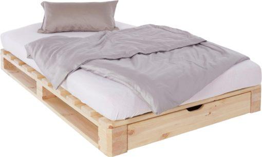 Oryginalne łóżko z palet z szufladą 120x200 cm