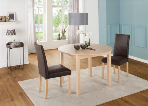 Okrągły stół w klasycznym stylu, naturalny kolor