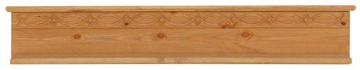 Zdobiona półka ścienna z sosny, 120 cm