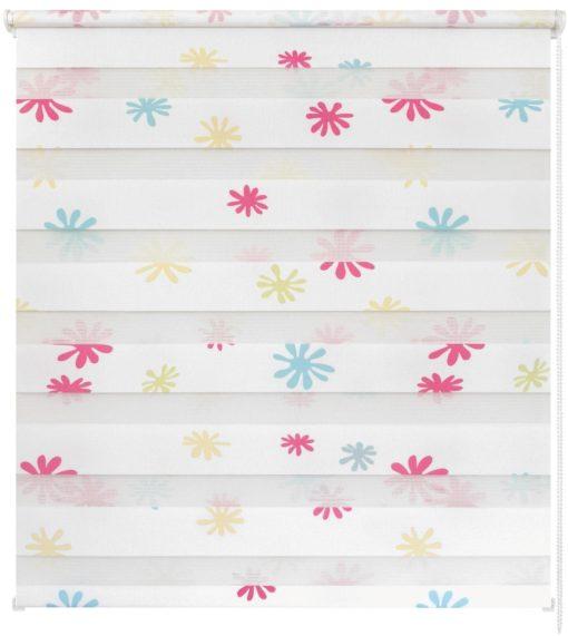 Kolorowa roleta dzień-noc ze wzorem, 60x150 cm