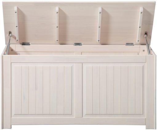 Sosnowa skrzynia do przechowywania lub pojemnik na pranie