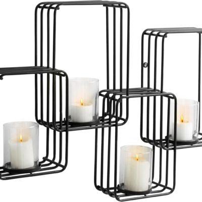 Metalowy świecznik w stylu industrialnym