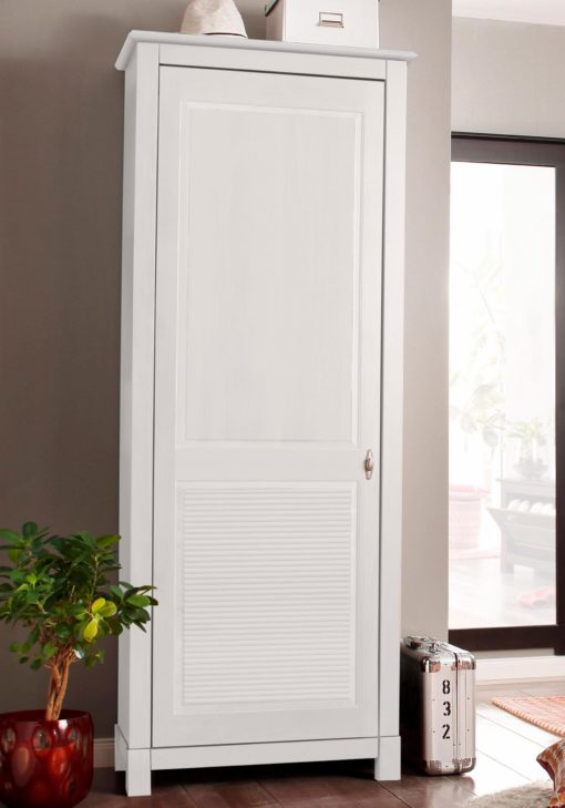Sosnowa szafa, jednodrzwiowa, biała