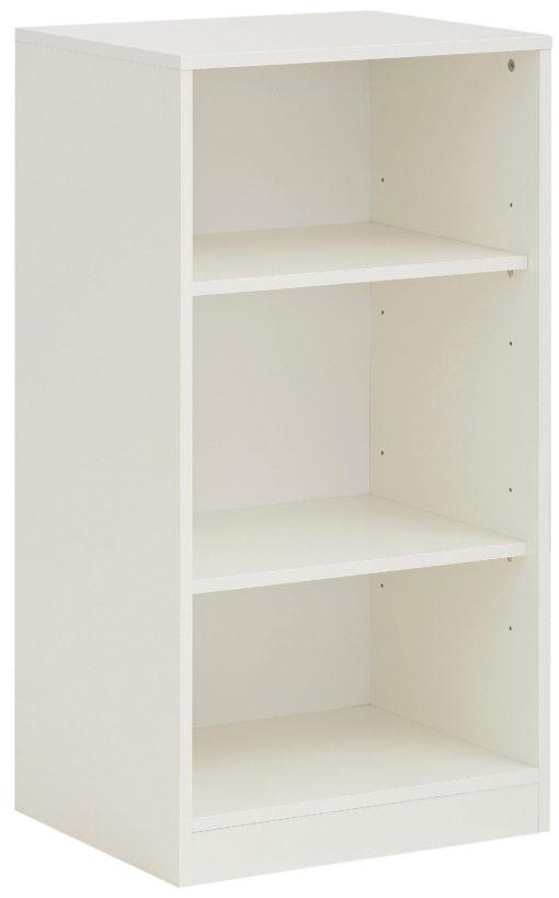 Uniwersalny, biały regał, niski - 94,5 cm