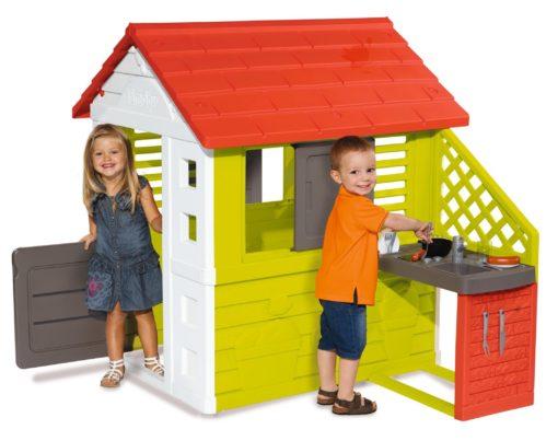 Smoby Domek dziecięcy do zabawy, z letnią kuchnią