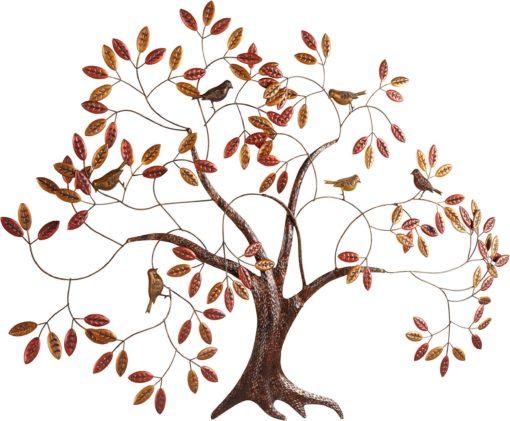 Dekoracja ścienna - duże drzewo z metalu