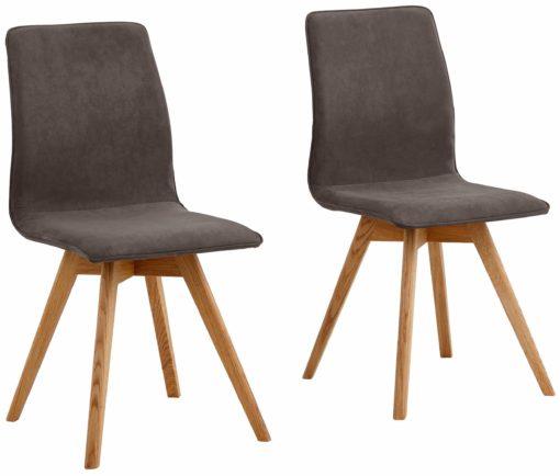 Nowoczesne krzesła, dębowe nogi - 6 sztuk