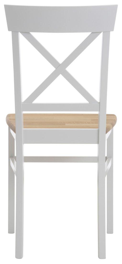 Drewniane krzesła w kolorze biel/dąb - 4 sztuki