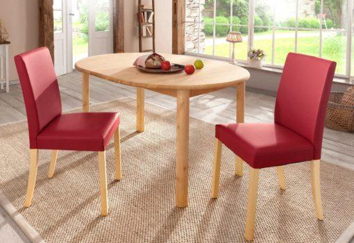 Gustowne krzesła w odcieniach czerwieni - 2 sztuki