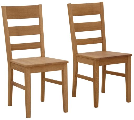 Dębowe krzesła do jadalni, ponadczasowe - 2 sztuki