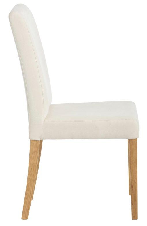 Wygodne, kremowe krzesła, nogi dębowe - 4 sztuki